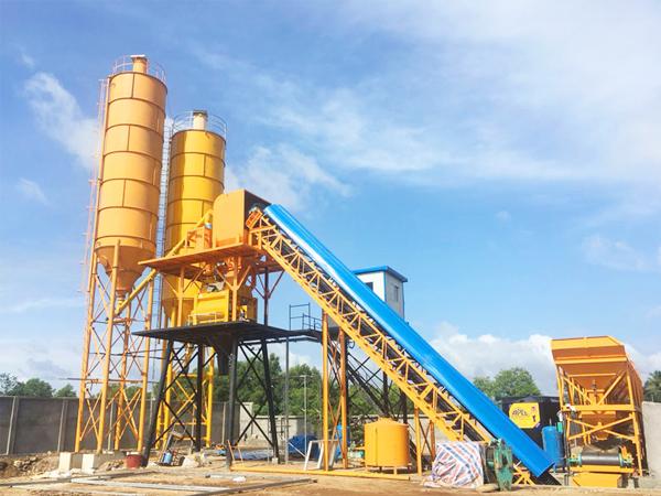 HZS90 ready mix concrete plant for sale