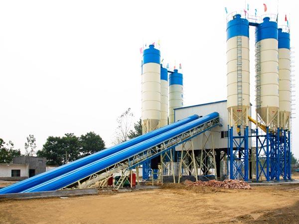 HZS120 stationary concrete batching plant